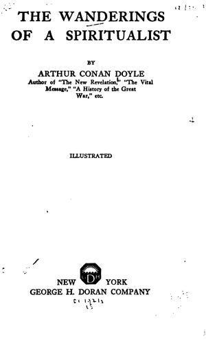 The wanderings of a spiritualist by Sir Arthur Conan Doyle