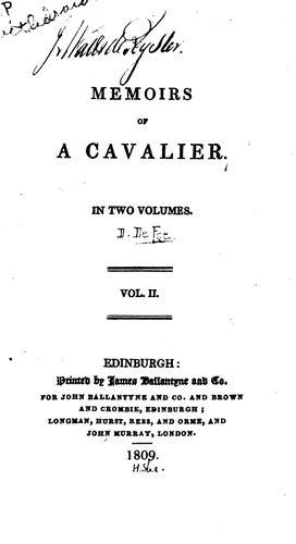 Memoirs of a cavalier …