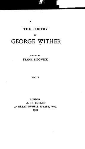 Poems by Wither, George