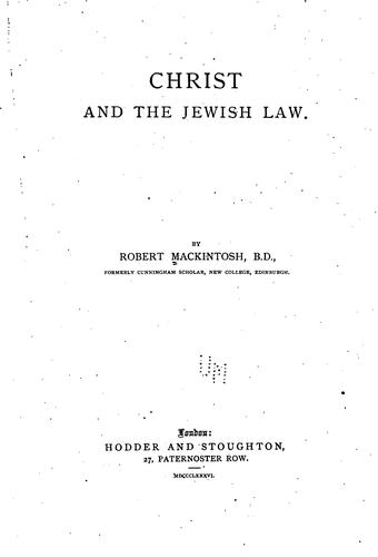 Christ and the Jewish law.