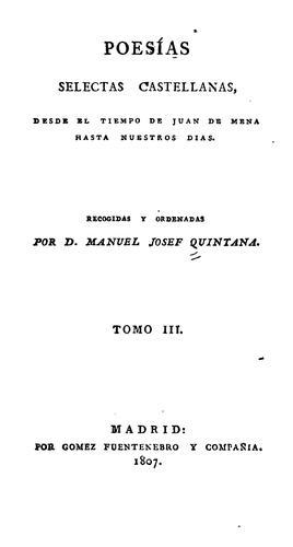 Poesías selectas castellanas