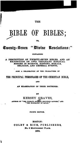 The bible of bibles by