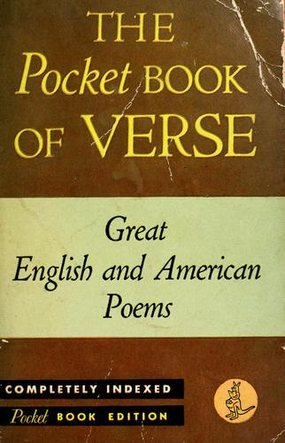 The Pocket Book of Verse by edited with an introduction by M.E. Speare.