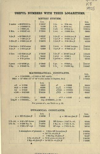 Four-figure mathematical tables by Cargill Gilston Knott