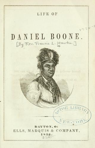 Life of Daniel Boone by