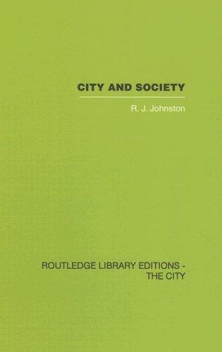 City and Society by R.J. Johnston