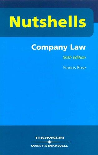 Company Law (Nutshells) by Francis D. Rose