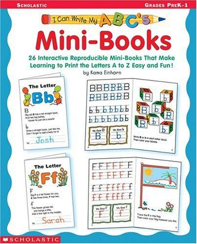 I Can Write My ABC's Mini-Books (I Can Write My ABC's) by Kama Einhorn