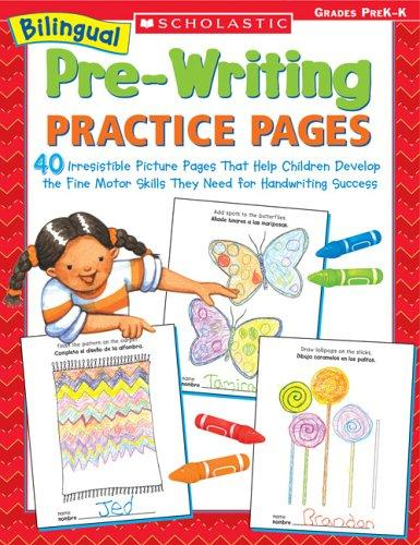 Bilingual Pre-Writing Practice Pages by Kama Einhorn