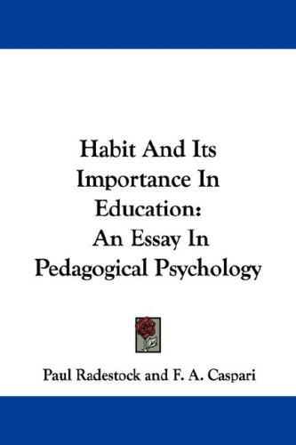 Habit And Its Importance In Education