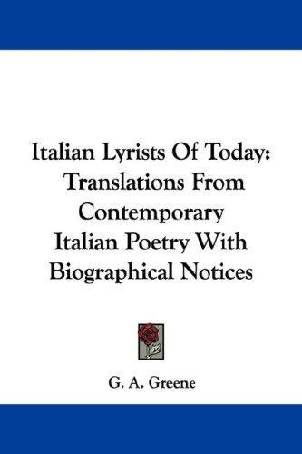 Italian Lyrists Of Today