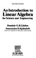 An introduction to linear algebra for science and engineering by Dominic G. B. Edelen