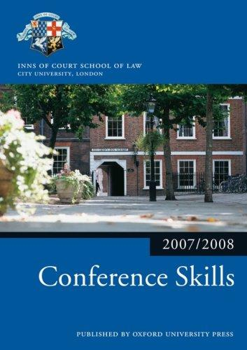 Conference Skills 2007-2008 by The City Law School