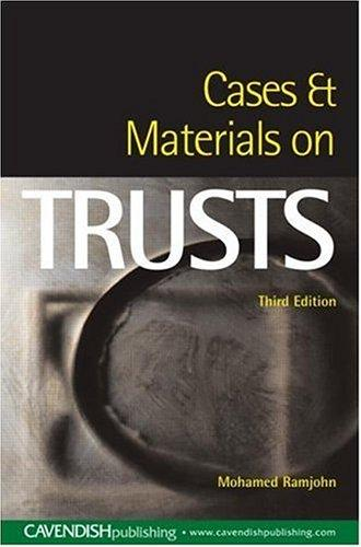 Cases and Materials on Trusts by Mohamed Ramjohn