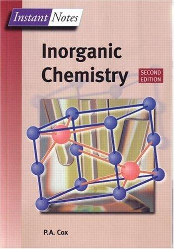 Instant Notes in Inorganic Chemistry (The Instant Notes Chemistry Series) by Tony Cox