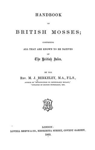 Handbook of British mosses