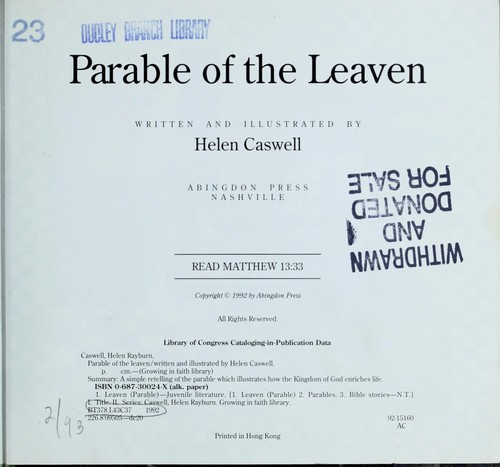 Parable of the leaven by Helen Rayburn Caswell