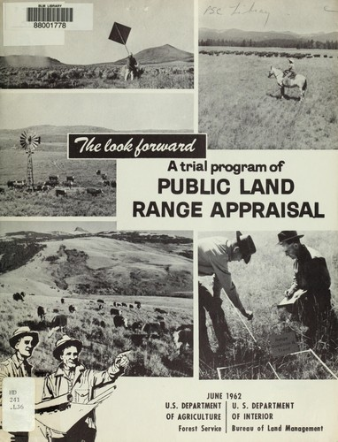 Trial program, public land range appraisal by United States. Bureau of Land Management.