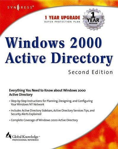 Windows 2000 Active Directory by Melissa Craft