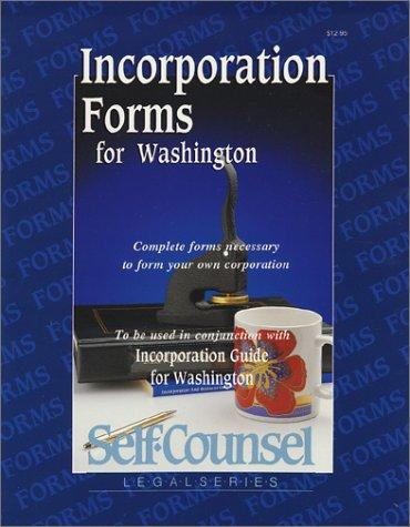 Incorporation forms for Washington by Victoria Van Hof