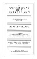 The confessions of a Harvard man by Stearns, Harold, Hug Ford