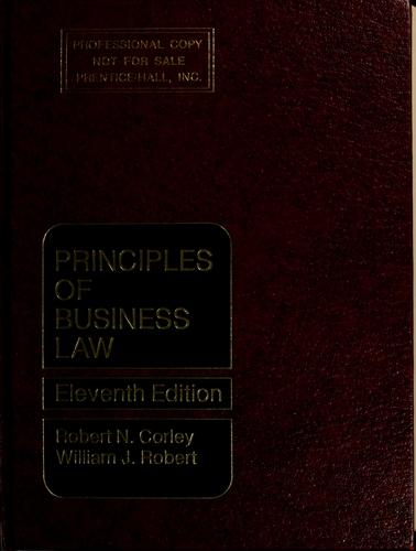 Principles of business law by Robert Neil Corley