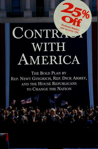 Contract with America by edited by Ed Gillespie and Bob Schellhas.
