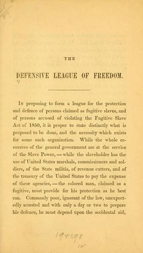 [Constitution. etc by Defensive League of Freedom.