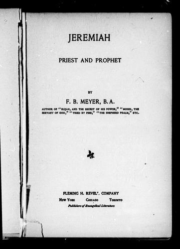 Jeremiah by Meyer, F. B.