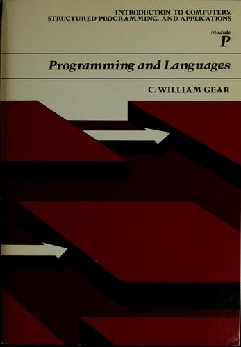Programming and languages by C. William Gear