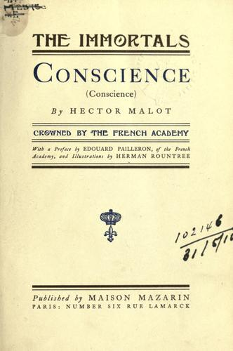Conscience (Conscience)  With a pref. by Edouard Pailleron and illus. by Herman Rountree by Hector Malot