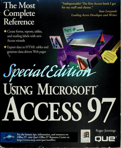 Using Microsoft Access 97 by Roger Jennings