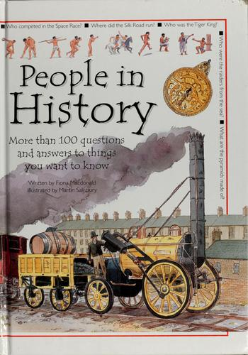 People in history by