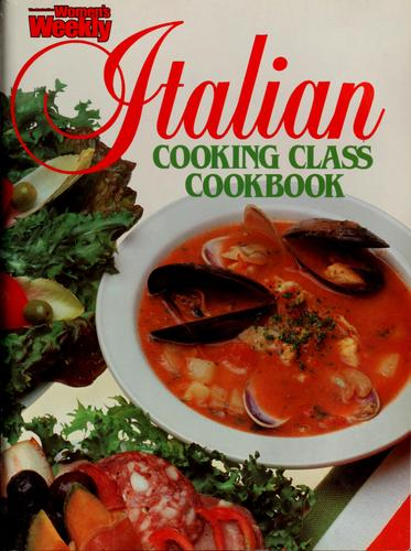 Italian cooking class cookbook by