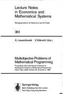 Multiobjective problems of mathematical programming by International Conference on Multiobjective Problems of Mathematical Programming (1988 Yalta, USSR)