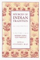 Sources of Indian Tradition, Volume Two by Stephen Hay