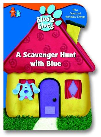 A Scavenger Hunt with Blue (Window Cling Book) by Golden Books