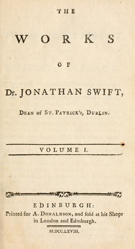 The prose works of Jonathan Swift by Jonathan Swift