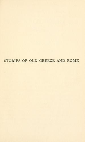 Stories of old Greece and Rome by Emilie K. Baker