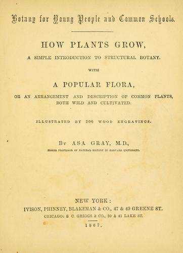 Botany for young people and common schools by Asa Gray