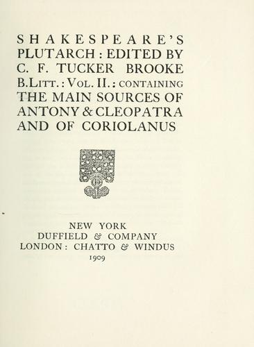Shakespeare's Plutarch by Plutarch