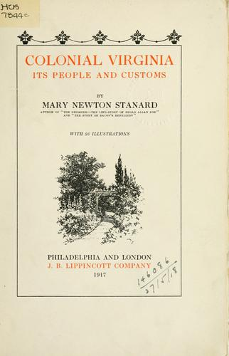 Colonial Virginia by Mary Newton Stanard