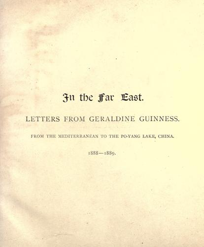 In the Far East by Mary Geraldine Guinness Taylor