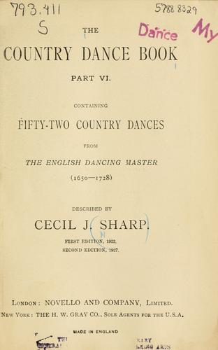 The country dance book by Cecil J. Sharp