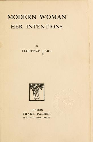 Modern woman by Florence Farr
