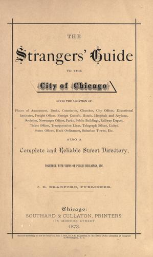 The Strangers' guide to the city of Chicago by