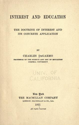Interest and education