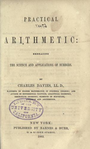 Practical arithmetic by Charles Davies