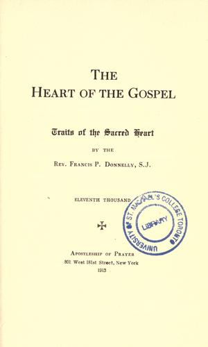 The heart of the Gospel by Donnelly, Francis Patrick