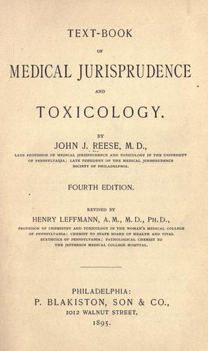 Text-book of medical jurisprudence and toxicology.